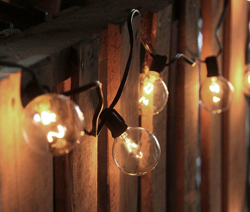 Cafe Style Set - Clear Bulbs Outdoor