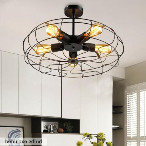 Ceiling Vintage Industrial  Light Pendant Lamp Chandelier Wr