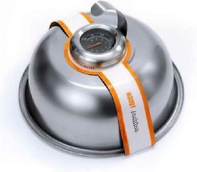 Cheese Dome Steel Griddle With Thermometer Cover