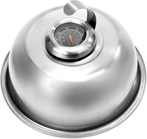 cheese melting dome stainless steel griddle