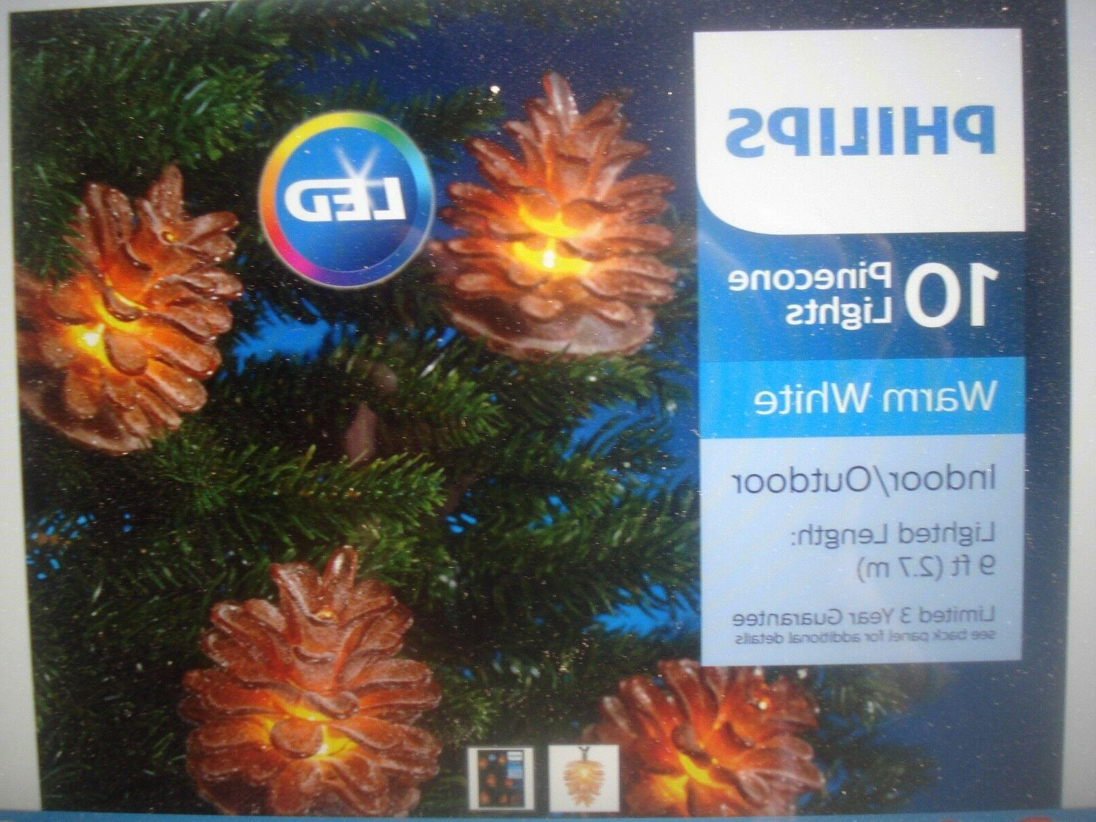 PHILIPS LED SUGARED PINECONE LIGHTS LIGHTS 10