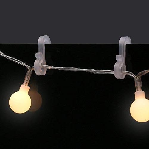 Meetory Hang Hooks S Clip Hooks Xmas Decoration String Lights(50pcs)