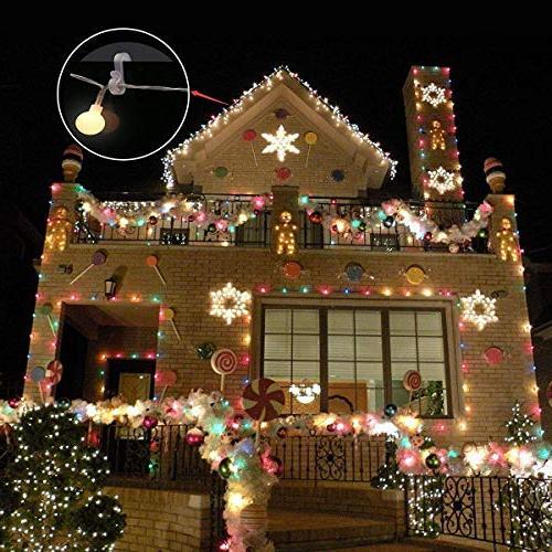 Meetory Christmas Hang Hooks Weatherproof S Hooks Xmas Outside String Lights(50pcs)