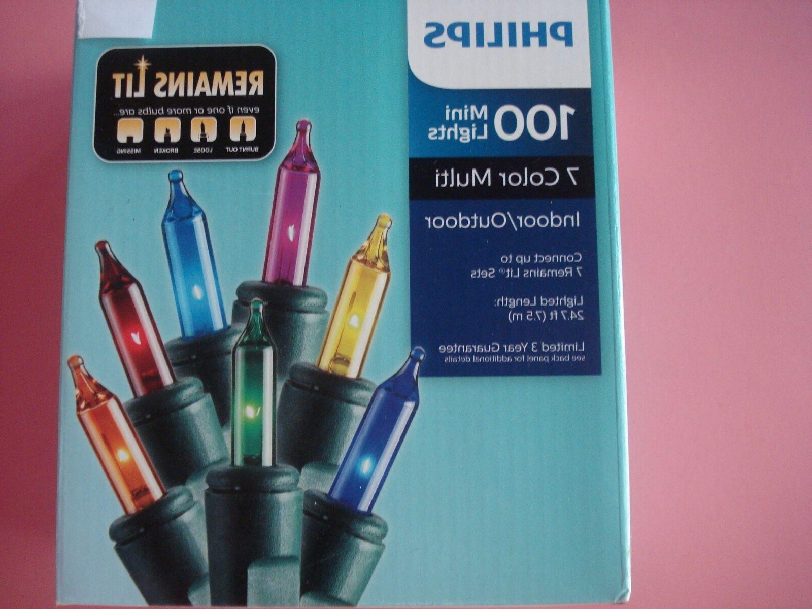 PHILIPS LIGHTS REMAINS LIT COLOR 100 NEW