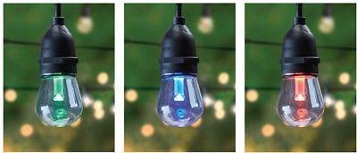 Color Changing String Light Set 30 ft Non-Breakable LED Bulb