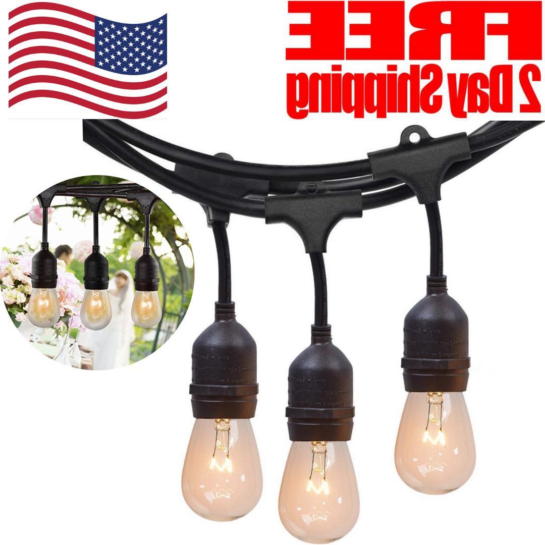 Commercial Weatherproof Patio String Lights Outdoor Bulbs Ha