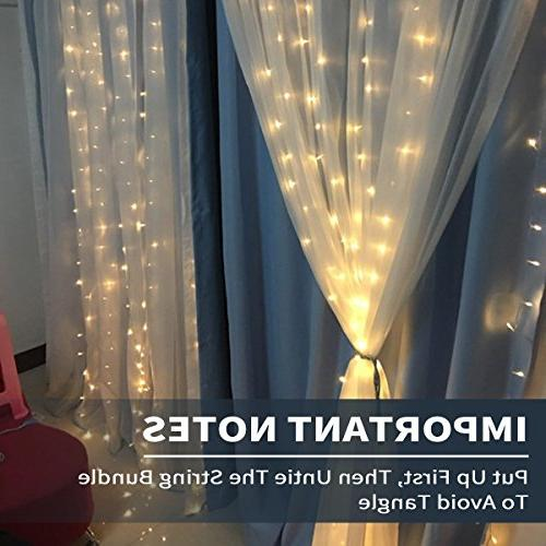 MZD8391 Curtain Lights, 9.8 9.8ft LED Starry For Valentine's Garden, Patio, Outdoor