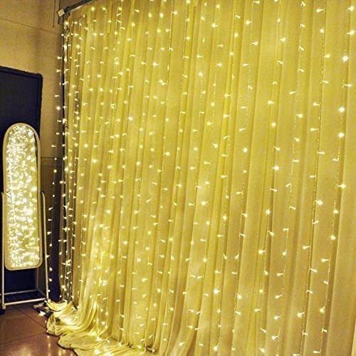MZD8391 Curtain 9.8 X 304 LED Starry Fairy For Wedding, Bed Garden, Patio, Outdoor