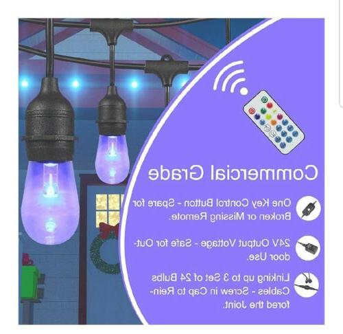 DAKASON Outdoor Color 48Ft bulbs 15