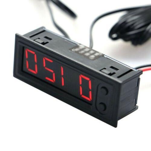 Digital In 1 Time Thermometer Voltmeter For 12V