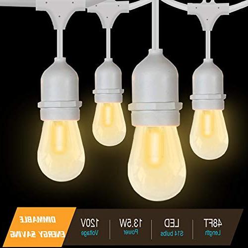 SUNTHIN 2-Pack Outdoor 15 18 x S14 Edison light, lighting