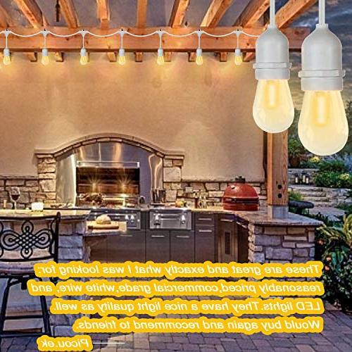 SUNTHIN 2-Pack Outdoor String Lights, Patio Lights 15 x 18 Wat, 18 S14 light, Waterproof lighting