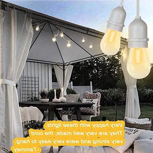 SUNTHIN LED Outdoor Lights, Patio Lights With 15 E26 18 0.9 18 x S14 light, lighting