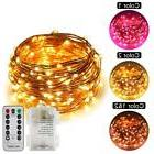 ErChen Dual-Color Battery Operated Led String Lights Warm Wh