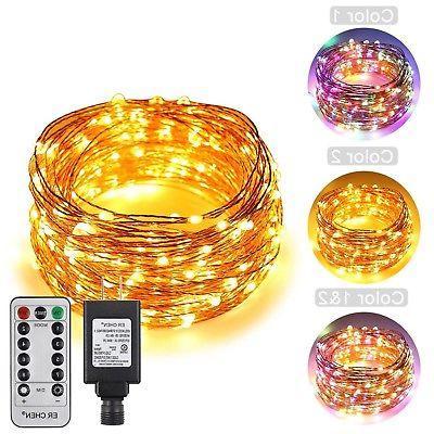 ErChen Dual-Color LED Lights, Leds Plug in Copper Wire 8