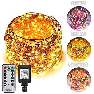 ErChen Dual-Color LED String Lights, 165 FT 500 Leds Plug in