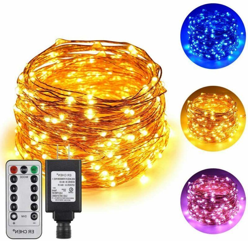 dual color led string lights 66 ft