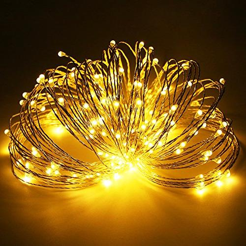 ErChen Operated Led String Color Changing Silvery Wire Fairy Light with Indoor/Outdoor Christmas