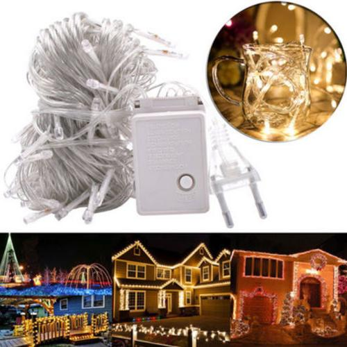 ELectric Plug 100LED Bulb String In/Outdoor