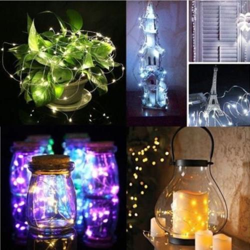ELectric 100LED Bulb Fairy String Lights In/Outdoor