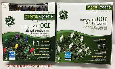 GE Engery Smart 100 LED Crystal Miniature Light String Holid