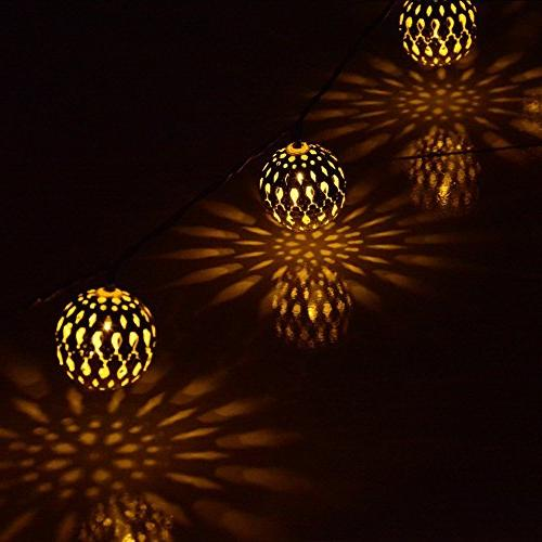 Fairy Decorative 20 LED Metal Ball Light Christmas Holiday, Party, and Indoor Outdoor