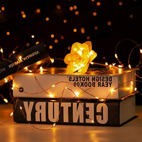 YIHONG Fairy String Lights Battery Operated 2, Copper Wire String Lights 50 | Remote Christmas Patio Indoor Decor