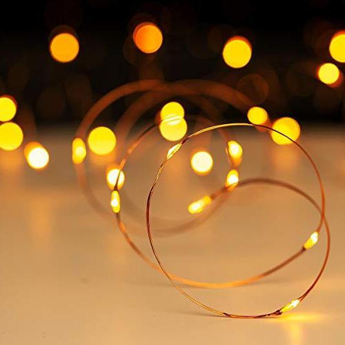 YIHONG Fairy 2, Lights Firefly 50 LEDs | Control Christmas Patio Indoor Decor