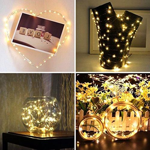 Ehome Fairy 12 Fairy Battery Copper Lights Party Decorations - Warm White