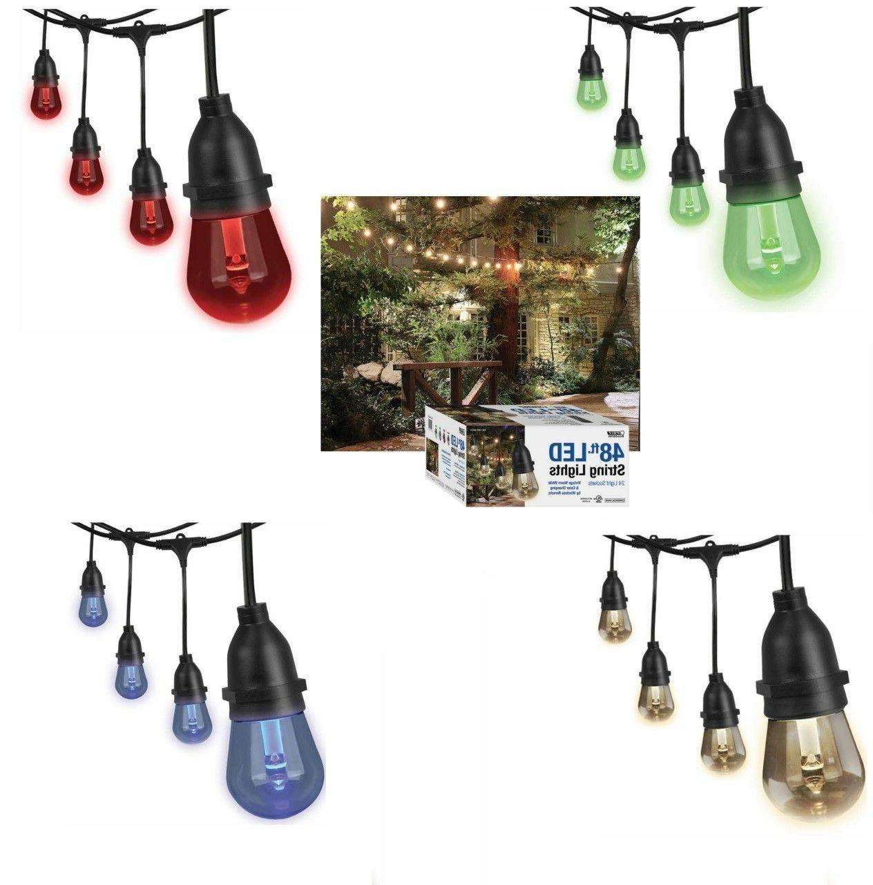 Feit Outdoor String Lights Not Working: Feit 48ft 24 LED RGB Outdoor Weatherproof Color