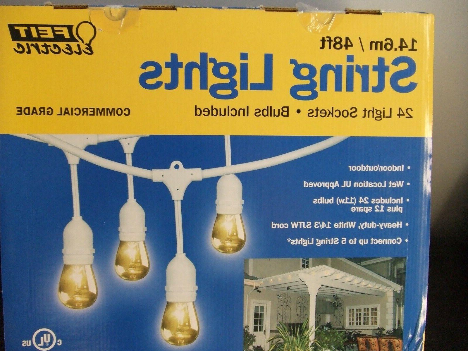 Feit Outdoor Weatherproof String Light Set 48ft 24 WHITE LED