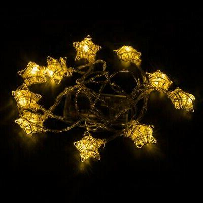 festive metal star string lights indoor plug