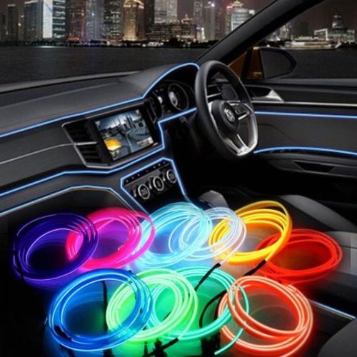 Flexible LED EL Glow Wire Ambient Light-guide Tube Party