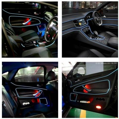 Glow Wire Interior Light-guide Tube Car Party
