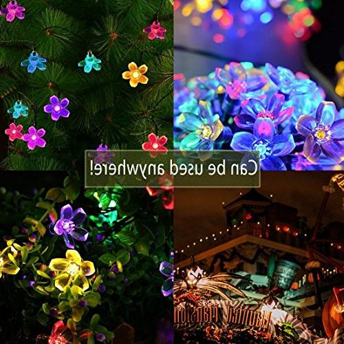 Fullbell Sakura Lights, Indoor/Outdoor String Wire with Flash Changing Modes Christmas/Patio/Garden/Party