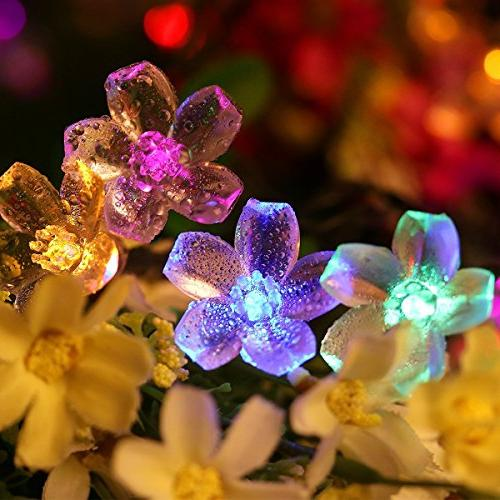 Fullbell Lights, Sakura Indoor/Outdoor String Lights, Wire Lights 8 Flash Modes for