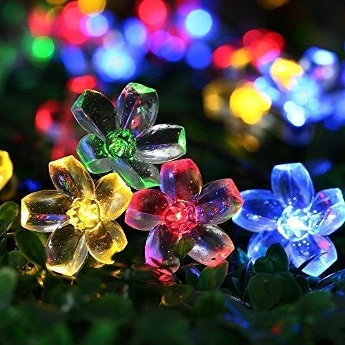 Fullbell String Lights, Sakura Lights, Indoor/Outdoor String Fairy Wire Lights 8 Flash Christmas/Patio/Garden/Party