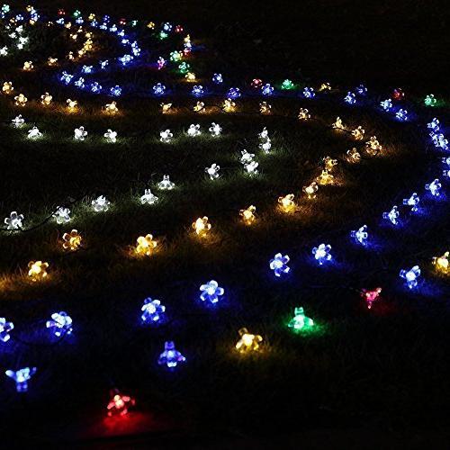 Fullbell Sakura Lights, String Lights, Wire Lights Flash Changing Christmas/Patio/Garden/Party