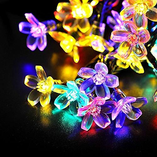 Fullbell Lights, Sakura Lights, Indoor/Outdoor String Lights, Wire Lights 8 Flash Modes Christmas/Patio/Garden/Party