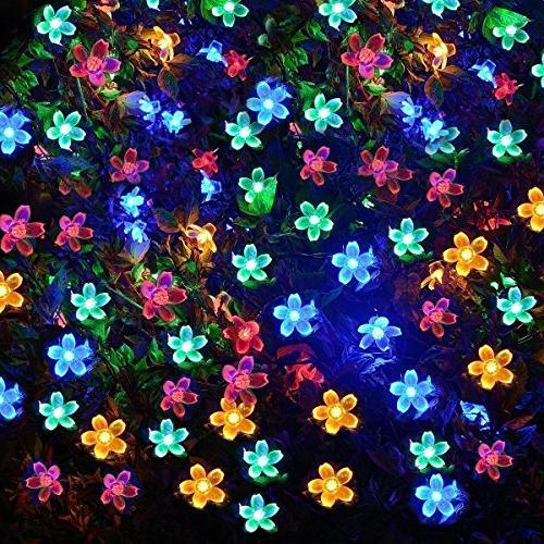 Fullbell Flower Sakura String Lights, Twinkle Wire Lights 8 Flash Christmas/Patio/Garden/Party