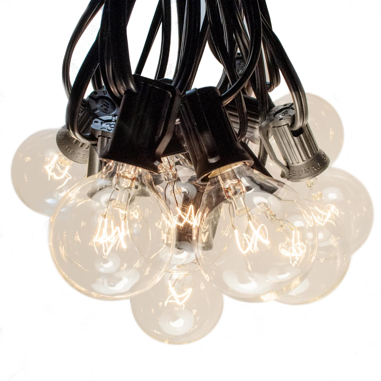 g40 clear outdoor patio globe string lights