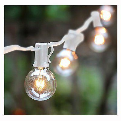 100Ft G40 Globe String Lights with Bulbs-UL Listd for Indoor