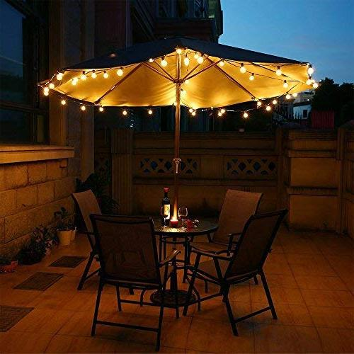 Gorld G40 String Lights, UL listed Backyard Lights, Super Hanging for Deckyard Tents, Patios, Weddings, Party Decor, Clear + 4