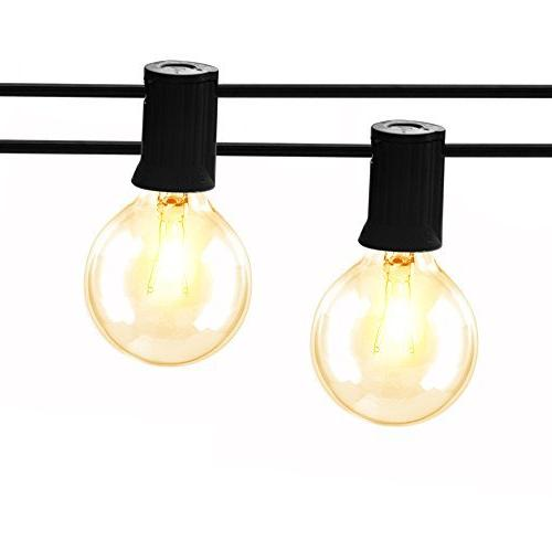 Gorld String UL Backyard Lights, Super Hanging Indoor/Outdoor String for Weddings, Party Decor, Clear Spare,