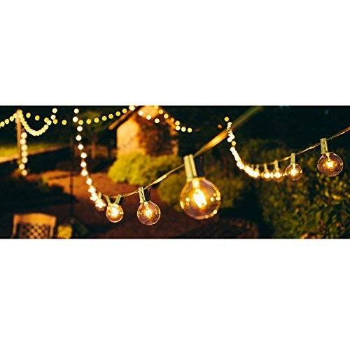 Gorld G40 Globe String Lights, Backyard Super Hanging Indoor/Outdoor for Tents, Weddings, Party Decor, Clear Bulbs Spare,