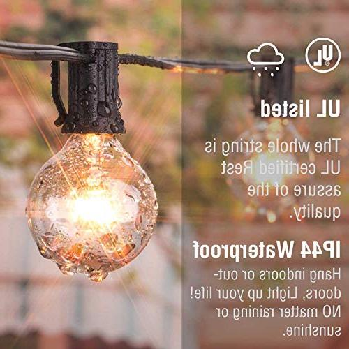 Brightown 50Foot G40 Outdoor String Lights UL Listed Indoor / Outdoor