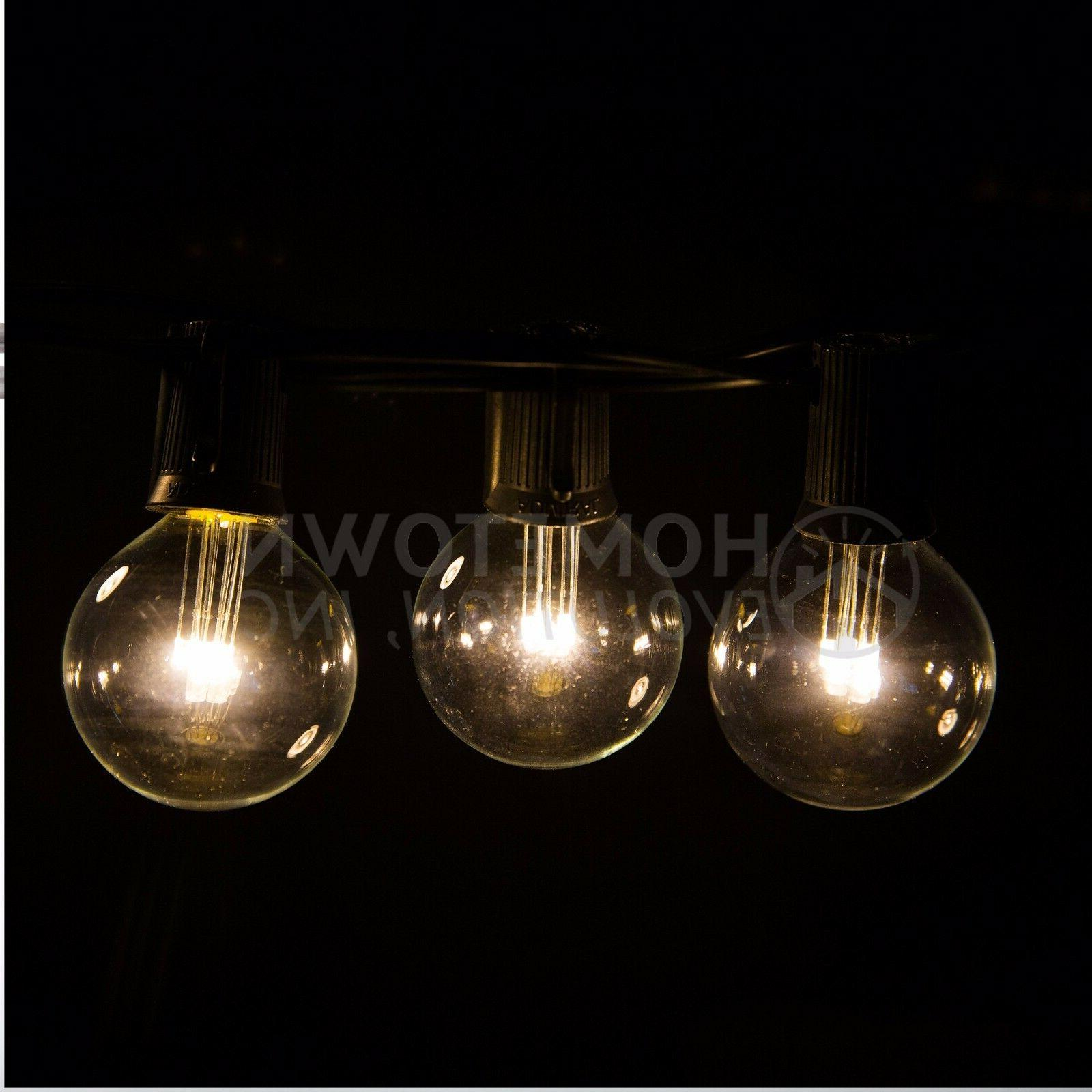 G40 Warm White Outdoor Lights