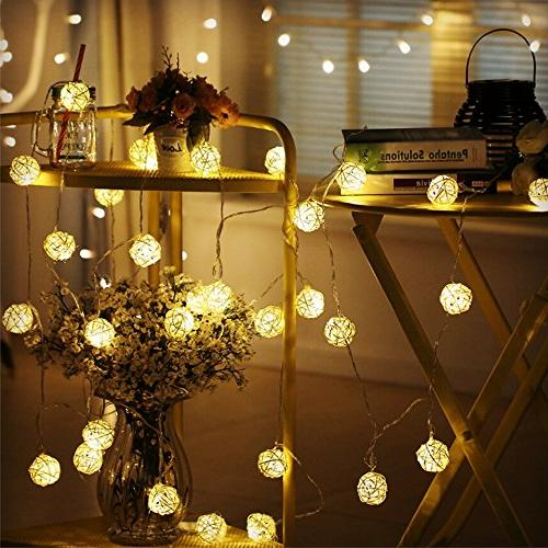 Globe String Lights, Goodia 13.8feet LED Light Tree,Party