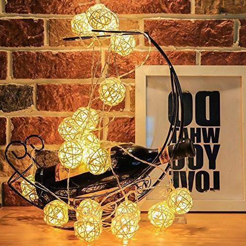 Globe Lights, 13.8feet LED Warm Light Garden,Home,Wedding,Holiday,Christmas Tree,Party