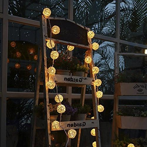 Globe Ball String Lights, Goodia 13.8feet 40 LED Light for Indoor,Bedroom,Curtain,Patio,Lawn,Landscape,Fairy Tree,Party
